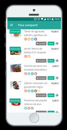 Móvil con captura de pantalla EntreCartas