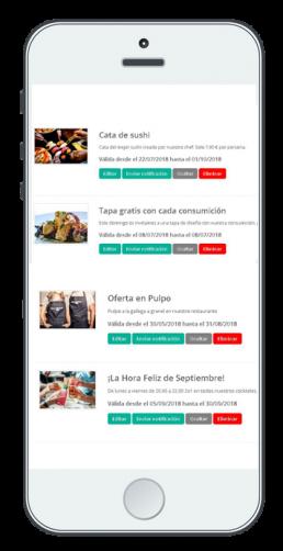 App movil notificaciones para Web EntreCartas