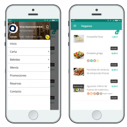 Carta Digital para restaurantes en App Móvil