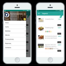 Carta Digital para restaurantes en App Móvil
